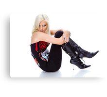 Natasha in boots Canvas Print