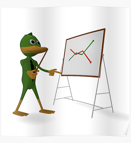 Duck and economic graph Poster