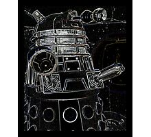 Black Dalek Photographic Print