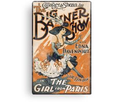 The Girl From Paris Vintage Canvas Print