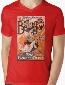The Girl From Paris Vintage Mens V-Neck T-Shirt