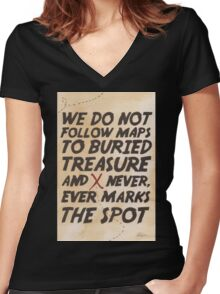 We Do Not Follow Maps Women's Fitted V-Neck T-Shirt