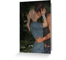 Kiss In The Rain-Bethyl Greeting Card