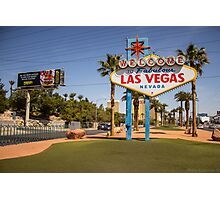 Welcome to  Fabulous Las Vegas, Nevada. Photographic Print