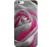 Dewey rose in pink & grey iPhone Case/Skin