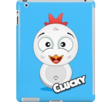 Farm Animal Fun Games - Clucky - Blue iPad Case/Skin