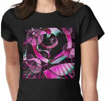 Ribbons maroon T-shirt Womens Fitted T-Shirt