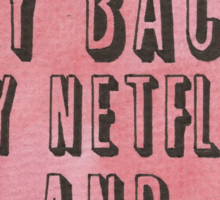 Netflix and Snacks Sticker