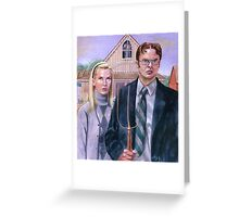 Cubicle Gothic Greeting Card