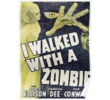 I Walked With A Zombie Vintage Poster