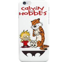 calvin and hobbes bad iPhone Case/Skin