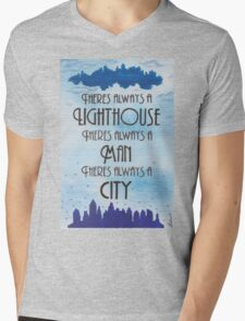 There's Always a Lighthouse Mens V-Neck T-Shirt