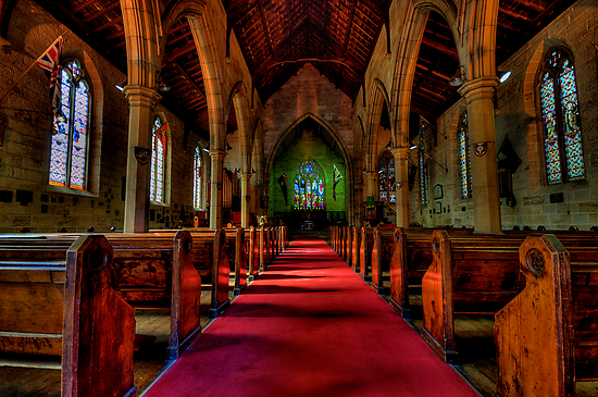 Rock Of Ages - The Garrison Church c.1843, The Rocks Sydney- The HDR Experience by Philip Johnson