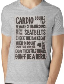 The Rules of Zombieland Mens V-Neck T-Shirt