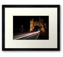Fibre-optic fly through Framed Print