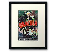 Dracula Vintage Framed Print