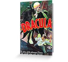 Dracula Vintage Greeting Card