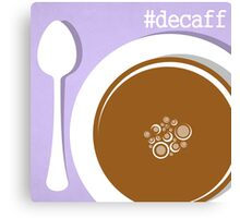 Coffee Decaff CSS Hex Word Print for cafe or home, Vector Illustration Canvas Print