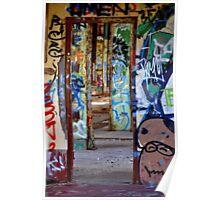 Graffiti Maze Poster