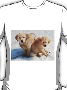 Golden Retriever Puppies First Winter #3 T-Shirt