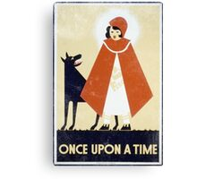 One Upon A Time Vintage Canvas Print