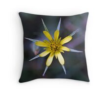 1972 Yellow flower 8 pointed petals Throw Pillow