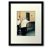 Curious children standing before the great mystery into which they were born Framed Print