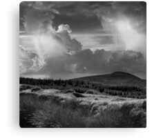 Scattering clouds - photograph Canvas Print
