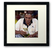 Satay Man, Ubud, Bali Framed Print
