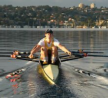 Double scull at Middle Harbour Mosman by Nick GARRATT