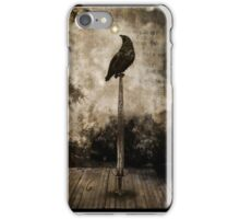 Raven On Sword iPhone Case/Skin