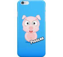 Farm Animal Fun Games - Piggles - Blue Gradient iPhone Case/Skin
