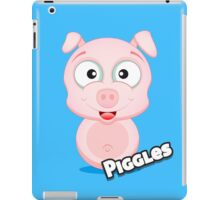 Farm Animal Fun Games - Piggles - Blue iPad Case/Skin