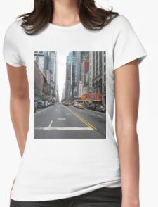 Downtown Funky Walk Womens Fitted T-Shirt