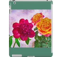HDR Red Charm Peony And Orange Roses iPad Case/Skin