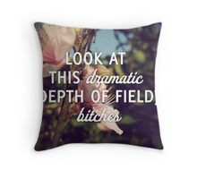 Dramatic Depth of Field Throw Pillow