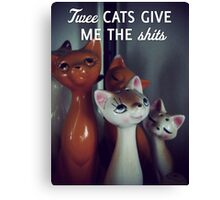 Twee cats give me the shits Canvas Print