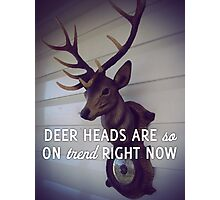 Deer heads are so on trend right now Photographic Print