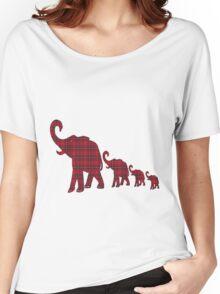 Tartan Elephants T-Shirt Women's Relaxed Fit T-Shirt