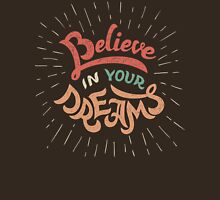 Believe in Your Dreams Womens Fitted T-Shirt