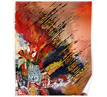 Flowers Abstract Poster