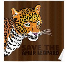 Save the Amur Leopard Poster