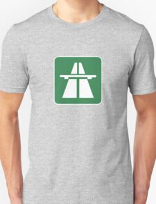 Autobahn Tee on green T-Shirt