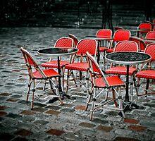 Chairs in Montmartre by Laurent Hunziker
