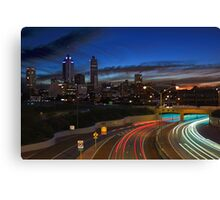 Perth City At Dusk  Canvas Print