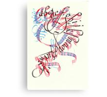 Calligradoodle  ( Alphabet ) Canvas Print