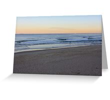 Sunset At Bar Beach Greeting Card