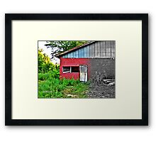 Garage by the Railroad Framed Print