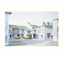 Hawkshead, Lake District, England. Art Print