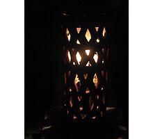 Terracotta Night Lamp Photographic Print